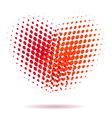 Heart spotted pattern isolated vector image