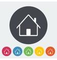 Home single icon vector image vector image