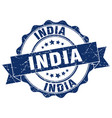 india round ribbon seal vector image vector image
