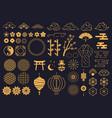 japanese symbols oriental kabuki theatre vector image