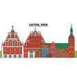 latvia riga city skyline architecture vector image vector image