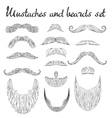 Man hair mustache beards collection Hipster vector image vector image