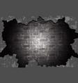 old brick wall black vector image