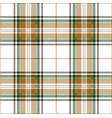 orange and green tartan plaid scottish pattern vector image vector image