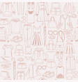 pattern with women fashion clothes and vector image vector image
