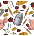 Seamless pattern with farm related items vector image vector image