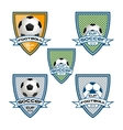 set football logo for team and cup vector image vector image