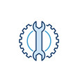 spanner with gear creative icon - configuration vector image