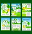 spring flower green leaf poster template design vector image vector image