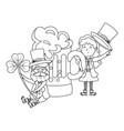 st patricks day cartoon vector image