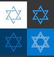 star david israel sign and symbol vector image