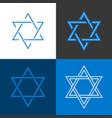 star of david israel sign and symbol vector image vector image