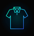 t-shirt blue icon - outline tshirt sign vector image vector image