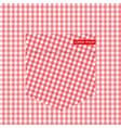 texture checkered shirt lumberjack plaid texture vector image vector image