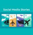 travel special offer poster social media set vector image