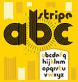 trendy vintage lowercase english alphabet letters vector image