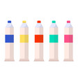 tubes with watercolor paints isolated on white vector image vector image