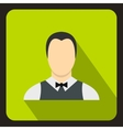 Waiter icon flat style vector image vector image