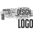what makes a logo successful text word cloud vector image vector image