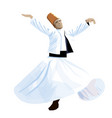 whirling dervish sufi vector image vector image