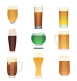 Different kind of beer collection set Beer vector image