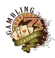 Casino retro logo on a white background vector image