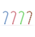 Christmas candy canes set isolated on white vector image