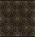 golden lotus seamless pattern vector image