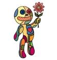 Little doll flower in her hand vector image