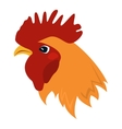 Rooster red cock animal vector image