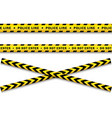yellow black police tape set isolated