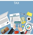 Tax payment Government taxes vector image