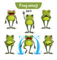 set of cute ffrog characters set 3 vector image