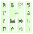 14 beer icons vector image vector image