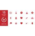15 medicine icons vector image vector image