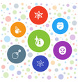 7 comic icons vector image vector image