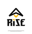 a modern masculine minimalist spaceship logo vector image vector image
