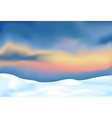 abstract landscape with snow vector image vector image