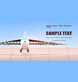 airport terminal with airplane waiting for take vector image