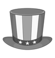 American hat icon black monochrome style vector image vector image