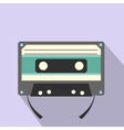 Audio compact cassette flat icon vector image vector image