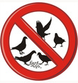 Ban on feeding pigeons vector image vector image