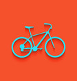 bicycle bike sign whitish icon on brick vector image vector image