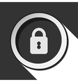 black icon with closed padlock and stylized shadow vector image