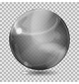 Black transparent glass sphere vector image vector image