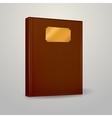 brown notebook vector image