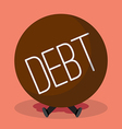 Businessman under heavy debt vector image vector image