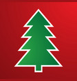 cartoon christmas tree for vector image