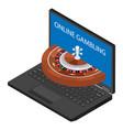 casino and gambling concept online gambling vector image