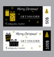 christmas and new year gift voucher certificate vector image vector image
